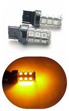 Yellow T20 7440 LED BACKUP REVERSE LIGHT BULB 2X18 SMD XENON 12V Car 3.6W 288LM