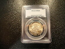 1953-S FRANKLIN HALF DOLLAR 50 CENTS PCGS MS 66 NICE STRIKE- DISCOUNT-OFFERS