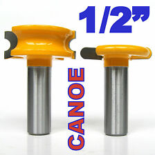 "2 pc 1/2"" SH 1/4"" Dia. Canoe Flute and Bead Router Bit sct-888"