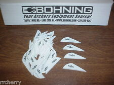 "36 Bohning 2"" BLAZER Arrow Arrows VANES Archery WHITE"