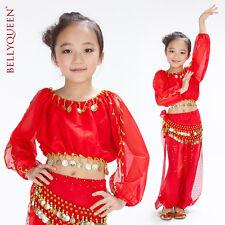 KC0033-1 Mädchen Kinder Bauchtanz Kostüm Dance Costume 3 Teiler Top Gürtel Hose