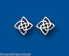 Celtic Earrings Celtic Studs White Gold Celtic Earrings
