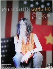 Patti Smith Original 2000 Gung Ho Promo Poster