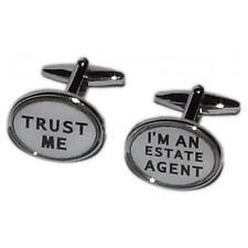 Trust Me I'm an Estate Agent Cufflinks House Seller Buyer Present Gift Box