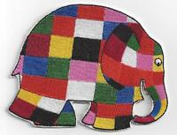 LARGE ELMER THE PATCHWORK ELEPHANT IRONON PATCH BUY 2 GET 1 FREE
