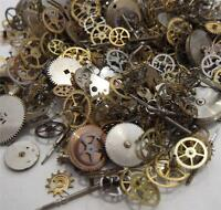 FREE SHIP Steampunk Watch Parts 250+ Pieces Lot 20g Gears Altered Art Steam Punk