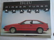 Isuzu Piazza Turbo brochure c1985