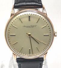 IWC International Watch Co. Schaffhausen Mechanical Rose Gold 14k.Men Used watch
