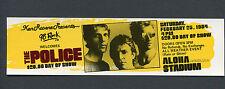 1984 Police Stevie Ray Vaughan Concert Ticket Stub Honolulu Synchronicity Sting