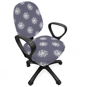 Ambesonne Floral Vintage Office Chair Slipcover Protective Stretch Cover