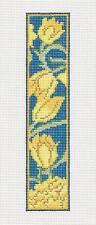 Whimsy & grace Wm's Wild Tulips Bookmark & Tassel handpainted Needlepoint Canvas