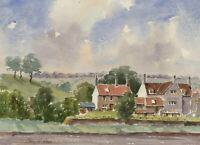 John A. Case - 20th Century Watercolour, Cottages at Gill