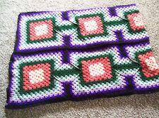 Beautiful crochet Groovy Granny 61x76 afghan blanket