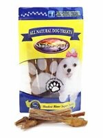 25 Pack 6 Inch Gnarly All Natural Premium Beef Bully Sticks by Shadow River