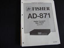 Original Service Manual Fisher AD-871