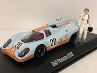 Steve McQueen Gulf Porsche 917K and Figure Greenlight 86435 1:43 Scale
