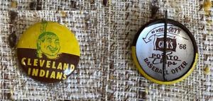 1966 Cleveland Indians Guy's Potato Chip Baseball Offer pin