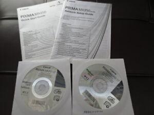 CANON PIXMA PRINTER MX850 QUICK START GUIDE & NETWORK SETUP GUIDE + SETUP CD-ROM