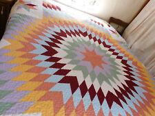 Spring House Quilt Sunburst Pattern 86 X 86 + 2 Standard Shams