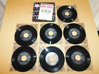 VINTAGE 1950 DECCA GUYS & DOLLS  MUSICAL 7 45 RPM RECORD SET in BOX