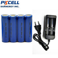 4 3.2V IFR18650 Battery 1200mAh Li-FePO4 Rechargeable Batteries + Smart Charger