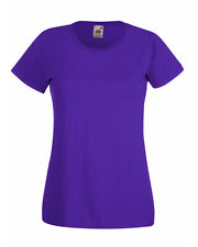 Fruit of The Loom Lady-fit Valueweight T-shirt Purple Wholesale 61372 M