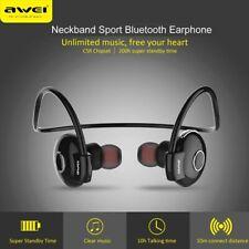 AWEI A845BL Wireless Bluetooth Sport Headsets In Ear Earphone Neckband With Mic
