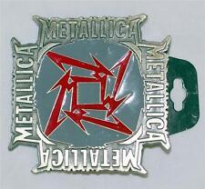 METALLICA 80s Heavy Metal Hard Rock Ninja Star Logo UNISEX METAL BELT BUCKLE New