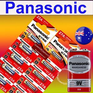 Genuine Panasonic 27A/23A12V 9V 6F22ND Battery Batteries Garage Car Remote Alarm