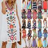 Womens Summer Casual Tunic Mini Beach Dress Bikini Cover Up Sundress Plus Size
