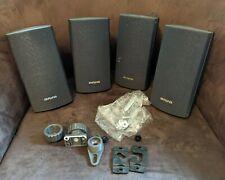 Lot of 4 AIWA Speakers 150W SX-R2700 SX-AV2700 Stereo Bookshelf Wall w/ Mounts