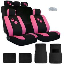 For Nissan New Car Seat Covers Front and Rear with Pink Paws Logo and Mats