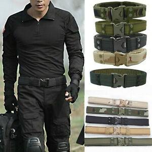 Herren Armee Militär Taktischer Gürtel Tactical Belt Nylon Plastikschnall