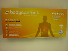 6-PC BODYCOMFORT TWIN BUNDLE INSTANT HEAT PACK HANDS FEET POCKETS BODY COMFORT