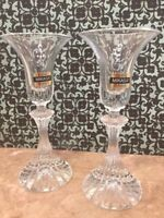 """Crystal Candle Holders Mikasa The Ritz 6 1/4"""" Tapered Set of 2"""