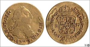 Spain - Carlos III 1/2 escudo 1773 Madrid Pj / 1,75 Gr. Gold BC / F 767