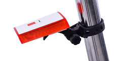USB RECHARGEABLE REAR RED BRIGHT BIKE 2 LED SAFETY LIGHT 2 FUNCTION RRP £16.99