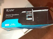 iLuv I189BLK Stereo Speaker with iPod Dock, Black, 3D Sound, Play&Charge, Stereo