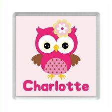 Personalised PINK OWL Acrylic Fridge Magnet