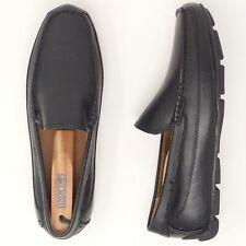 JF J Ferrar Black Leather Driving Moc Toe Moccasin Slip-on Loafer Mens Size 9.5M