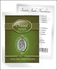 SAINT JUDE MEDAL AND BIOGRAPHY CARD IN A PLASTIC KEEPSAKE WALLET OTHERS LISTED
