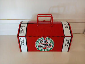 classic mini cooper barn / tote metal toolbox gr8gift  free p&p recreation red