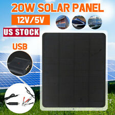Outdoor 20W 12V Car Boat Yacht Solar Panel Trickle Battery Charger Power Supply
