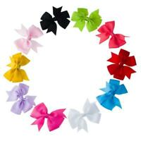 20x Cute Baby Girls Hair Bows Boutique Hair Grosgrain without clip Ribbon P6M8