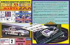 ANEXO DECAL 1/43 OPEL MANTA 400 ROTHMANS H.TOIVONEN MANX R. 1983 WINNER (06)