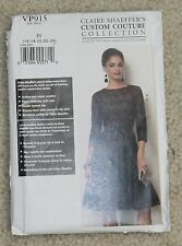 Vogue sewing pattern VP915 Dress Clair Shaeffers Custom Couture 16 18 20 22 24