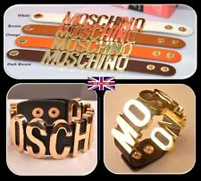 UK HOT Fashion Metal Letter MOS*CHINO Bracelets Genuine Leather Bracelets C074