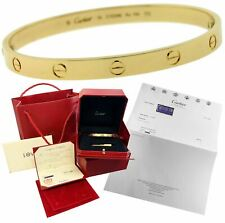 NEW Ladies Cartier LOVE Screw Size 19 18K 750 Solid Yellow Gold Bangle Bracelet