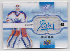 16-17 UD Ice Grant Fuhr Auto Jersey Signature Swatches Oilers 2016