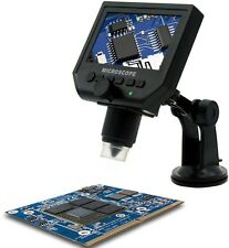 Digital Portable 1-600X 3.6MP Microscope Continuous Magnifier with LCD Display
